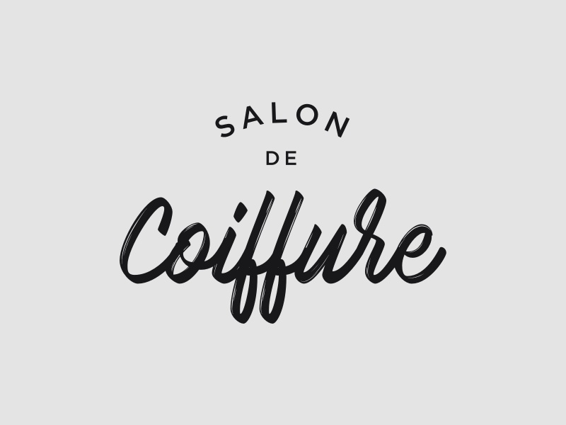 Coiffure Logo Preview By Andrea Flemma Dribbble Dribbble