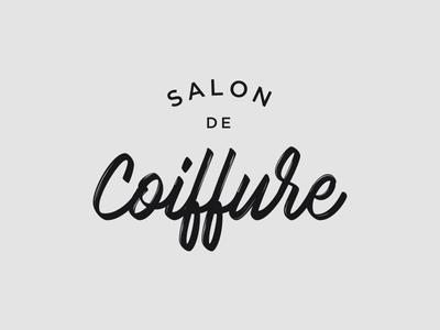 Coiffure Logo Preview trademark logotype branding brush brand coiffure haircut logo