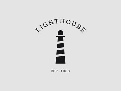 Lighthouse Logo trademark logotype branding lighthouse slab brand light restaurant logo