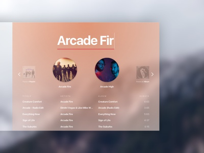 Spotify White blur concept redesign music ui ux spotify