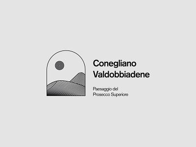 Conegliano Valdobbiadene concept logotype trademark art wine unesco brand logo