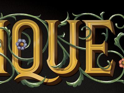 QUE? wip lettering illustration gouache