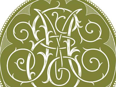 Monogram WIP lettering illustration monogram