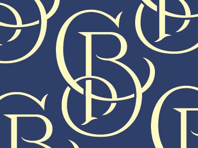 CB monogram monogram lettering design