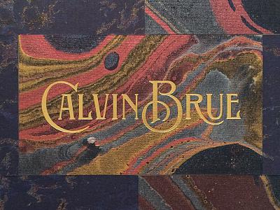 Calvin Brue branding gold foil lettering