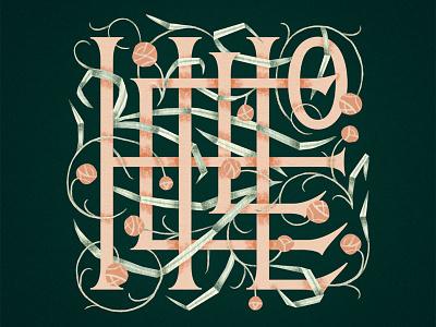 Skillshare class! monogram lettering illustration skillshare