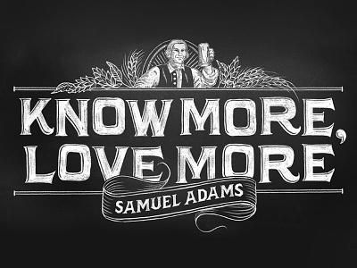 Samuel Adams chalk lettering illustration