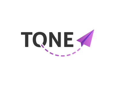 Tone - logo variant 1 identity brand gradient purple apps product logo