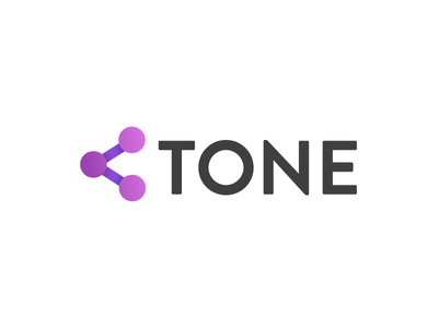 Tone - logo variant 2 sharing purple product logo identity gradient brand apps