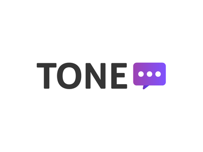 Tone - logo variant 3 message chat purple product logo identity gradient brand apps