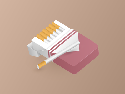 Cigarette Packet Illustration realistic gradient illustration packet cigarette smoking