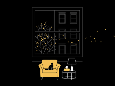 Oh hello Fall! design illustration