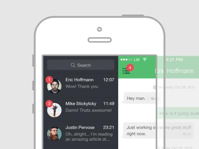 WhatsApp Redesign [Unofficial] iphone app chat messenger ios7 flat whatsapp