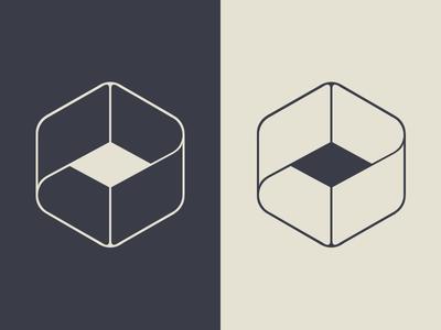 Codesign logo brand codesign minimal cubic a