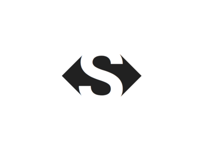 Swap Logo Concept monogram logo swap brand trade icon a