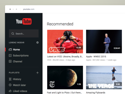 YouTube Redesign - WIP 1 channel playlists minimastic flat redesign youtube