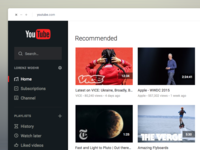 YouTube Redesign - WIP 1
