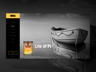 IMDb Redesign - WIP video platform redesign imdb channel website player black flat dark media