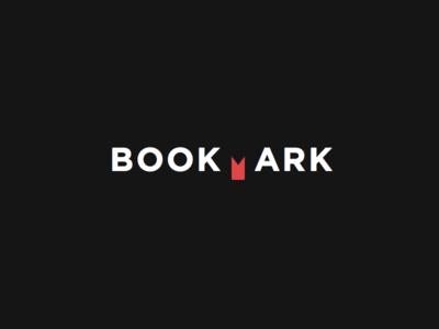 Bookmark negative space bookmark bold logotype mark branding dark brand logo