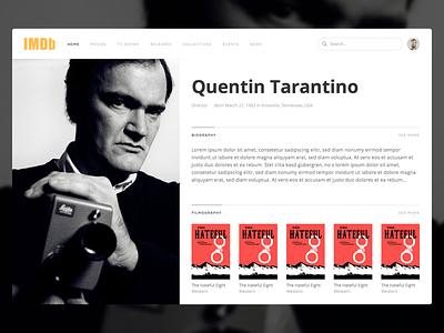 IMDb Redesign  concept platform redesign website black flat dark web people actor database imdb