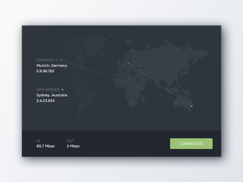 VPN UI Experiment dark ui connect flat vpn