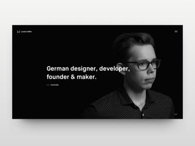 Portfolio ui ux mobile designer white black flat minimalistic portfolio website web
