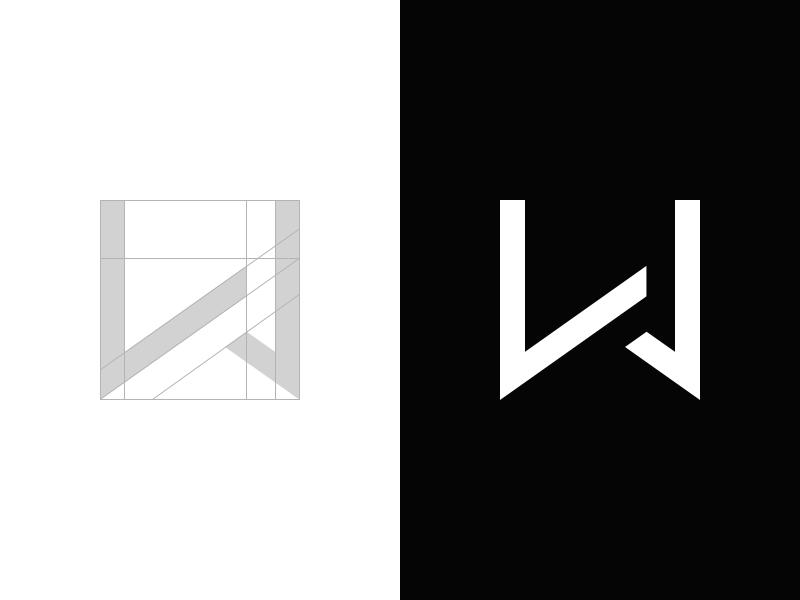 LW - Personal Branding flat negative space minimalistic white black monogram personal branding logo