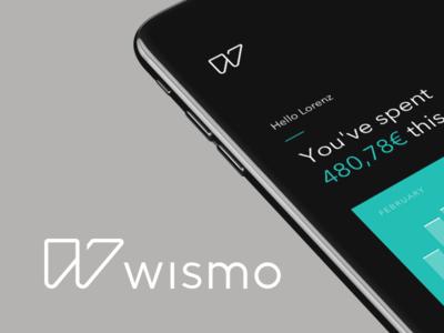 wismo banking  banking money iphone app w dynamic logo design identity design identity wismo logo branding