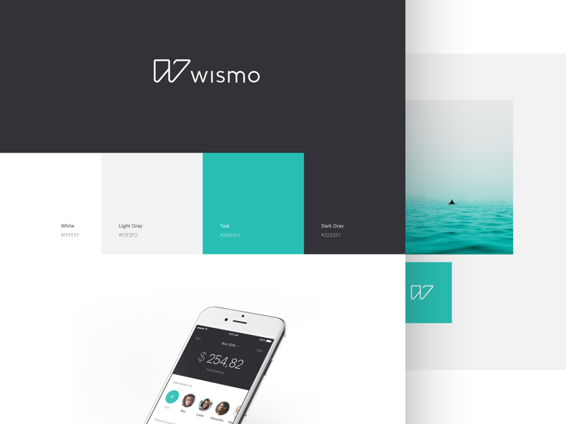 wismo visual identity  behance fintech financial design identity banking ui logo brand branding app