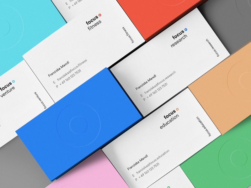 focus identity business card visual identity behance print health logo design branding identity focus