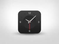 Dark Clock App Icon [PSD]