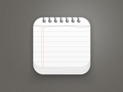 Notepad App Icon notepad icon logo app iphone ios apple