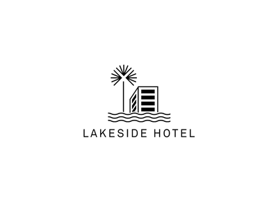 lakeside hotel logo by precious dribbble