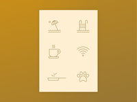 Hotel Reservation Icons