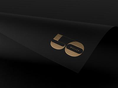 Mullen50 Logo deco numbers branding typography logo typography design typography