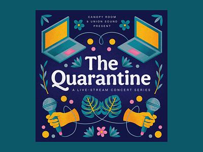 The Quarantine procreate flat illustration covid branding design illustration music