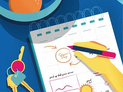 The Planner brand fun vector flat-illustration illustration design