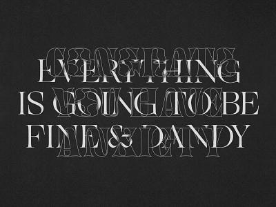 Two Moods art typography art dark texture procreate type design typography mental health anxiety