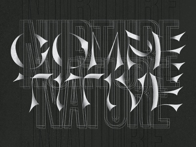 Nurture Competitive Nature procreate texture series dark design typography design type design typography mental health