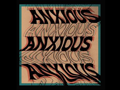 Anxious truegrit texture procreate typography type design design mental health