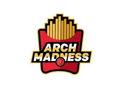 Arch Madness flat  design logo design logo flat illustration mcd mcdonalds