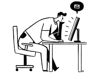 Waiting design digital illustration character minimal illustration