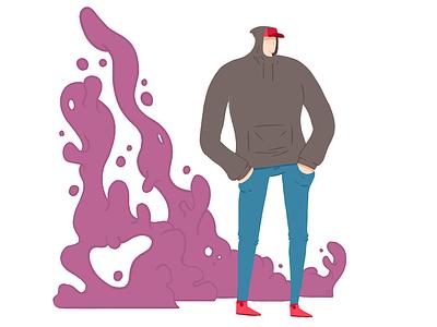 Gloopy smoke graphic design digital illustration art illustration