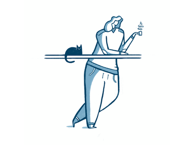 Morning coffee design digital illustration illustration