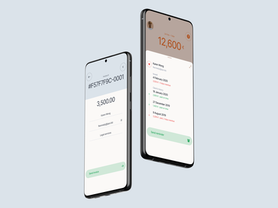Invoice preview app interaction ui ios interface ux experience minimal clean bill action sheet bottom sheet fintech finance template invoice