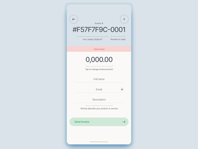 Invoice template billing financial finance template invoice banking fintech design iphone app ux ios interface ui