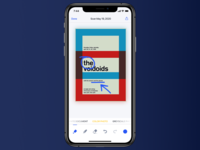 Edit Scan Screen tabbar icons edit app iphone clean interaction design ios ux interface ui scanner scan