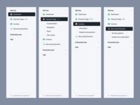 Sidebar Navigation clean ux design dashboard navigation sidebar interface ui