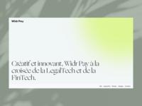 Widr Pay logo branding light design minimalistic mini clean typogaphy web about landingpage onepage website