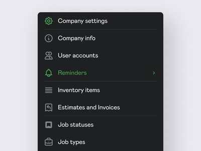 Settings sidebar navigation tailwind icons clean application ux ui interface app dark menu web sidebar navigation